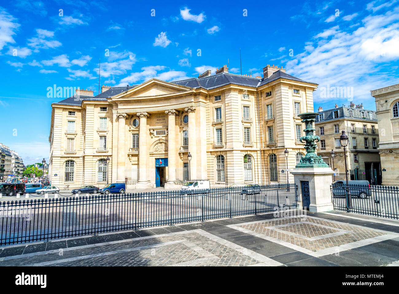 The town hall of the 5th arrondissement in Paris, France - Stock Image