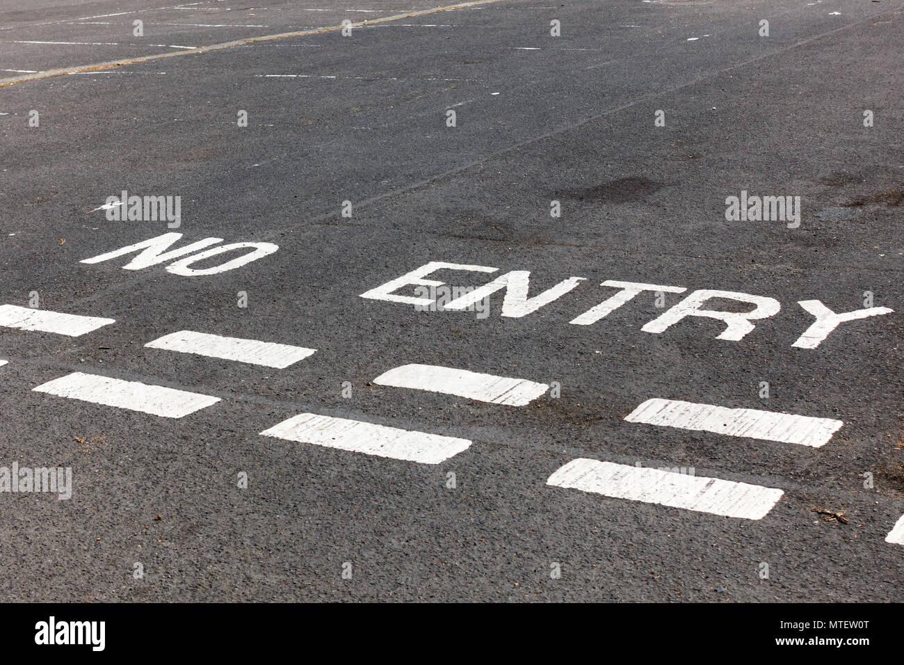 British no entry road markings - Stock Image