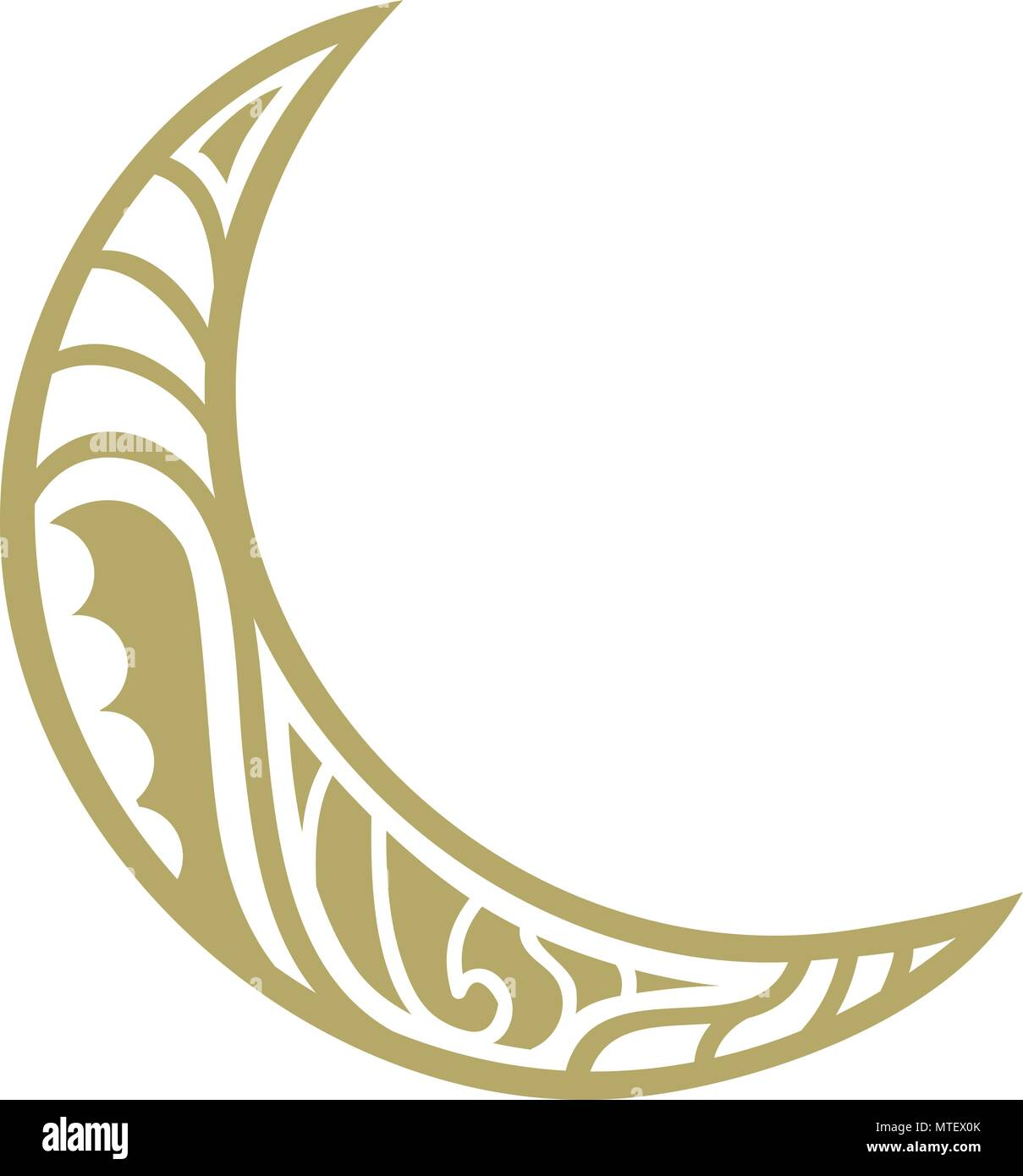 Maori greeting stock vector images alamy ornamental crescent moon logo stock vector m4hsunfo