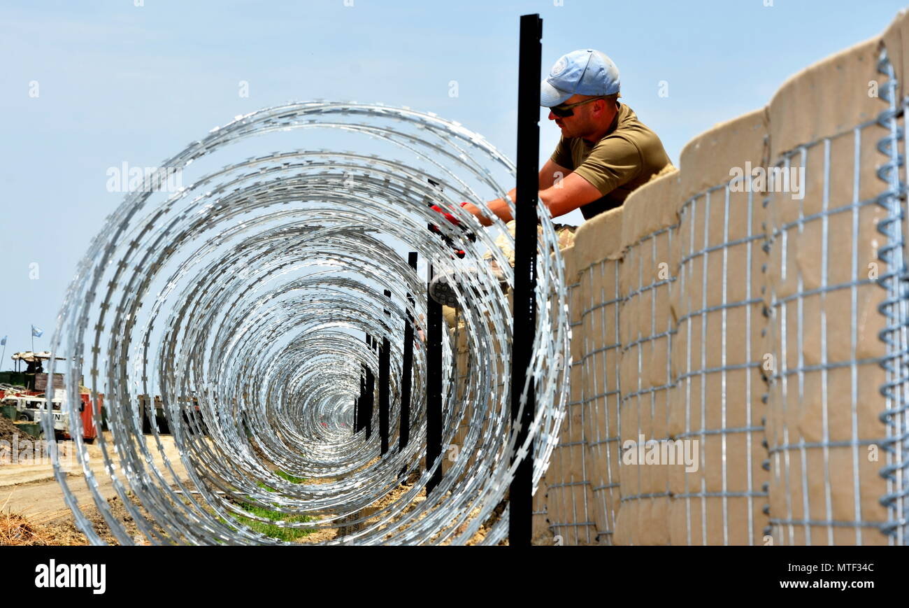 Pictured is a member of 39 Engineer Regiment,The Corps of Royal Engineers in South Sudan working under the United Nations. - Stock Image
