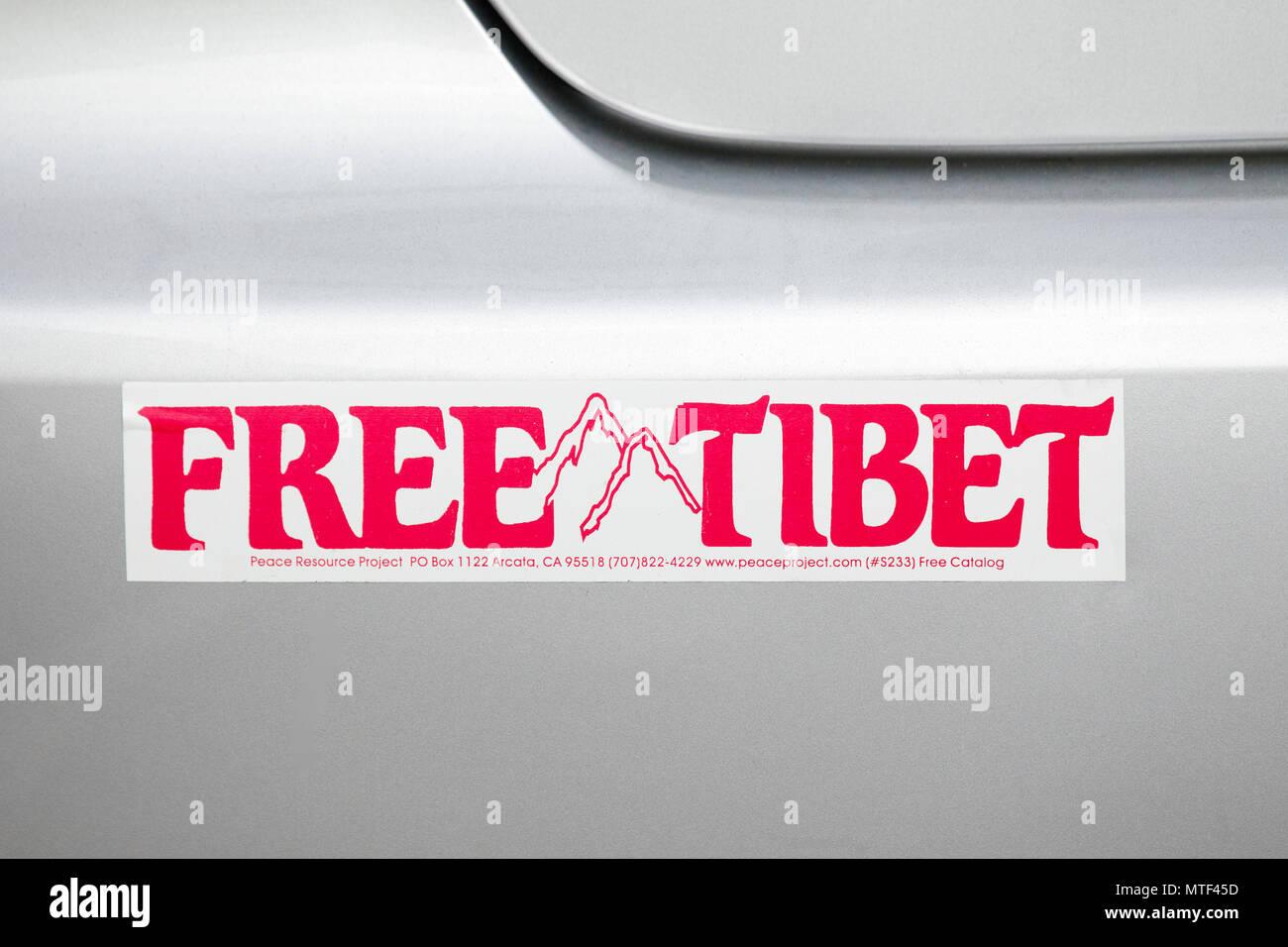 Free tibet bumper sticker stock image