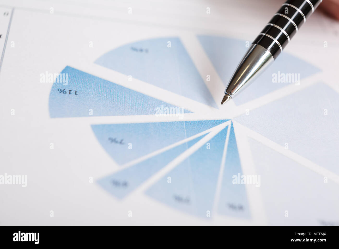 Pen on graph. Macro image.Financial data analysis concept - Stock Image