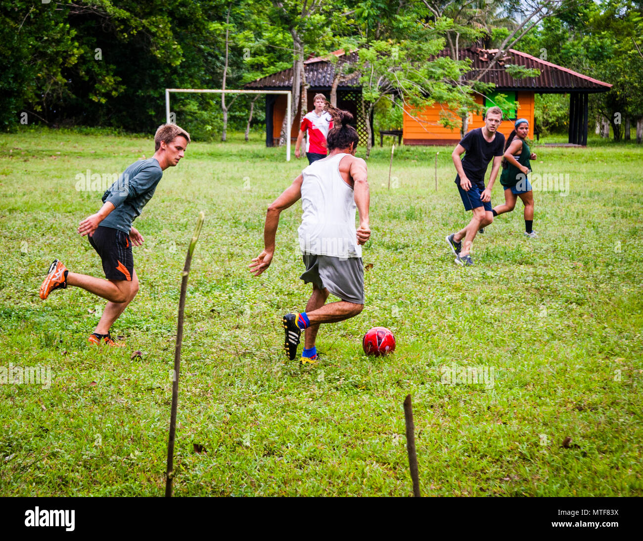Football in Costa Rica - Stock Image