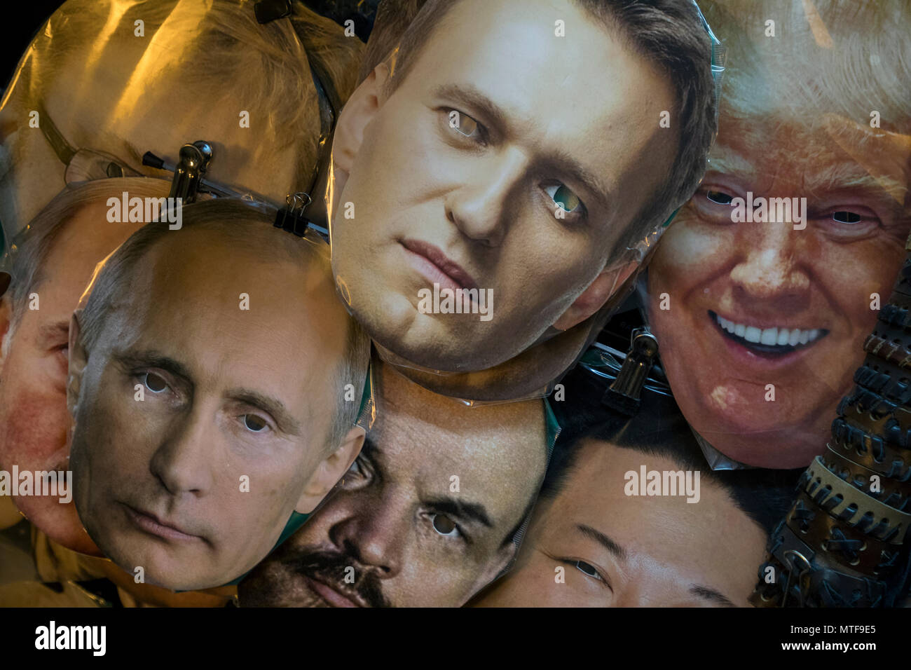 Masks Of Vladimir Putin Alexei Navalny Vladimir Lenin Donald Trump Lie On A Counter Of A Souvenir Stand On Nevsky Prospekt In St Petersburg Russi Stock Photo Alamy