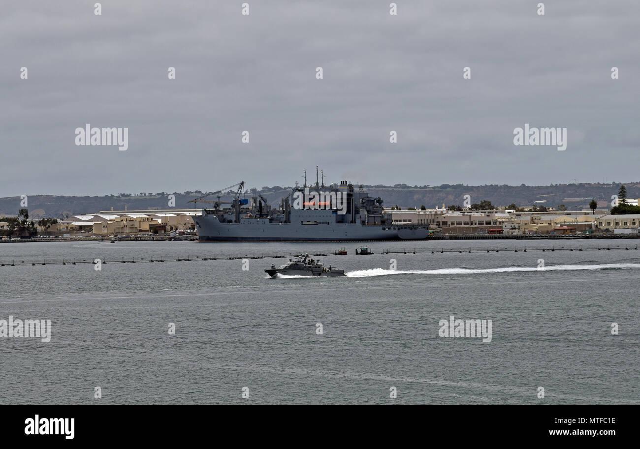 US Navy ship, San Diego, California - Stock Image