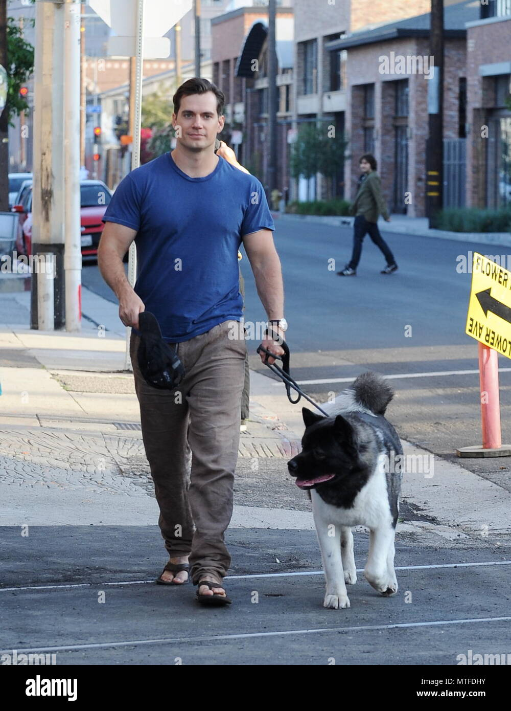 d02954909e5d Henry Cavill leaves a photoshoot for Hugo Boss with his dog Kal Featuring  Henry  Cavill