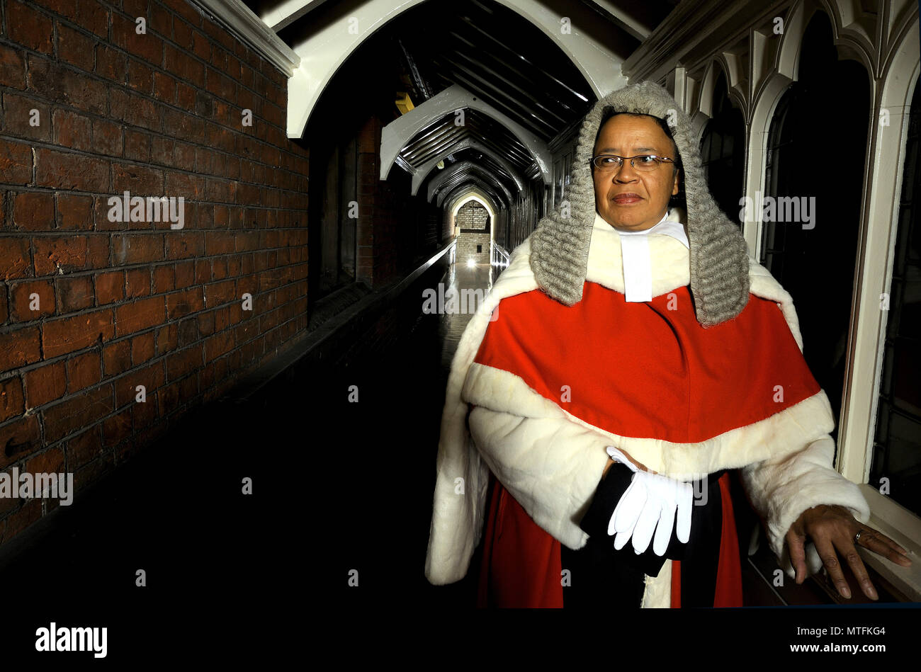 Dame Linda Penelope Dobbs, DBE was a High Court judge in England and Wales from 2004 to 2013. Dobbs was the first non-white person to be appointed to the senior judiciary of England and Wales. - Stock Image