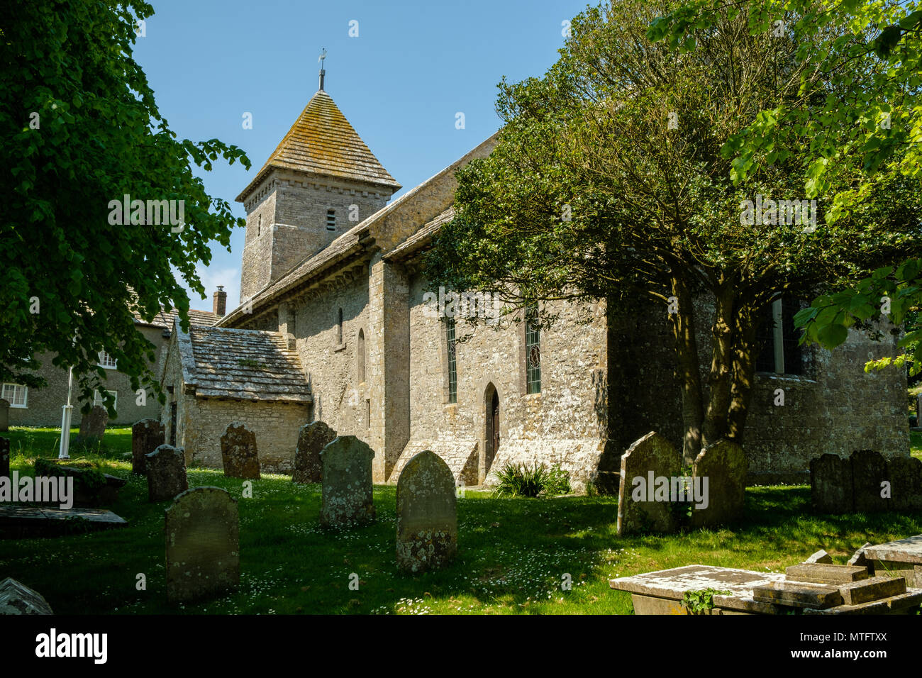 The Parish Church of St Nicholas Worth Matravers Isle of Purbeck Dorset England UK - Stock Image