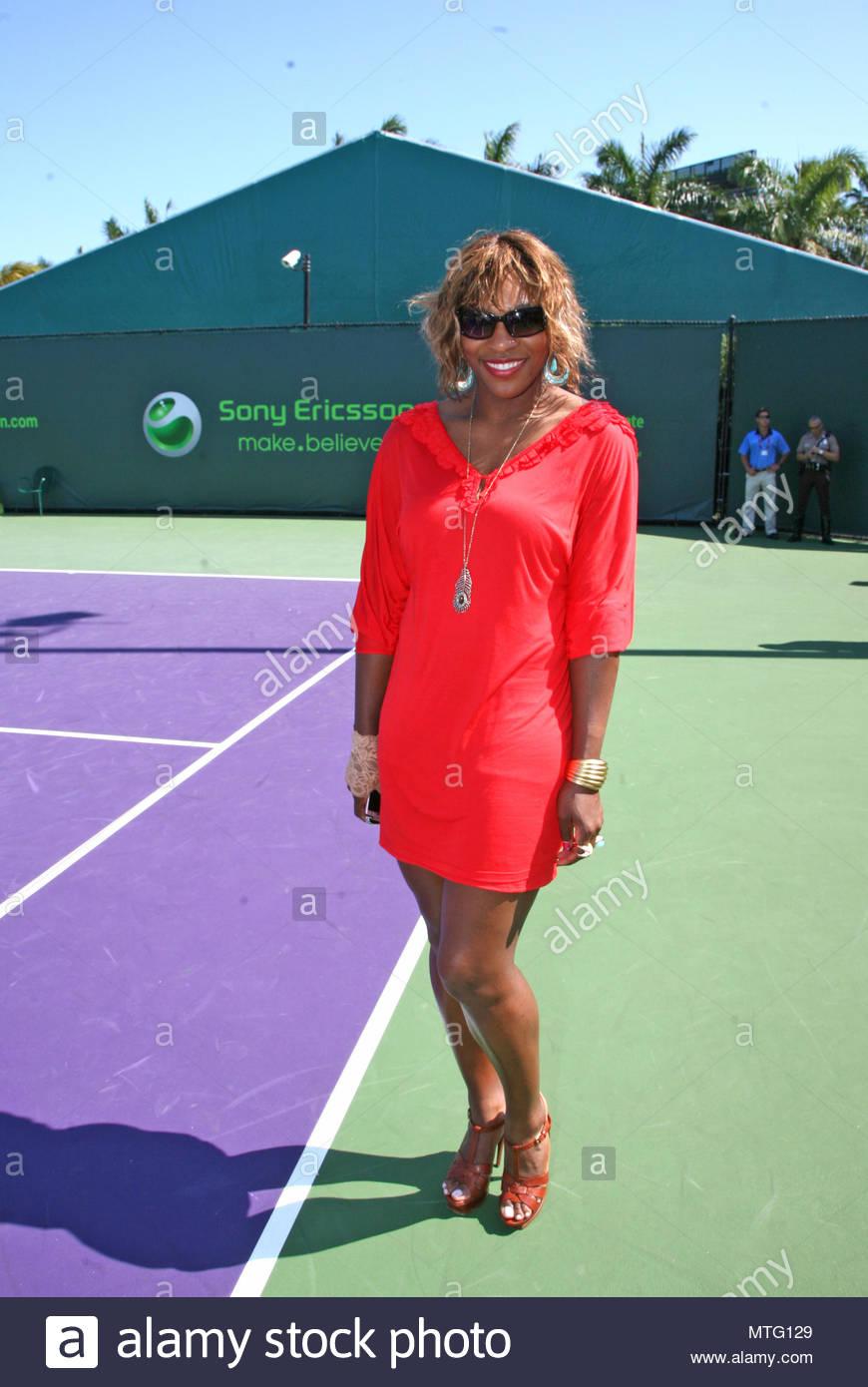 Serena Williams Serena Williams At The Sony Ericsson Open Shows