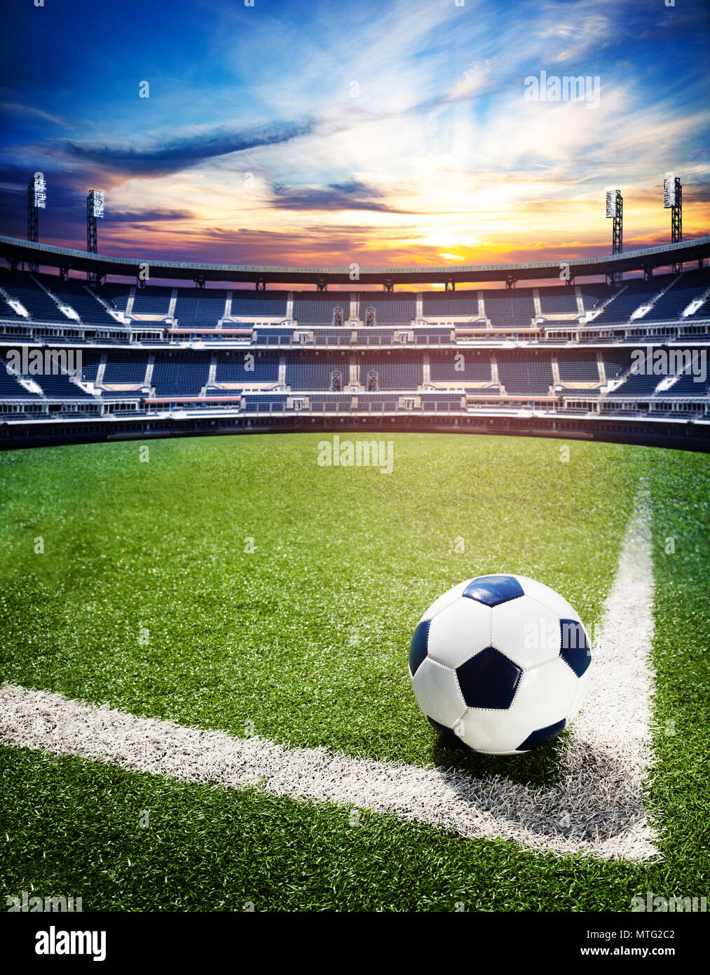 concept of soccer world cup or national championship stadium background with football ball on the big field stock photo alamy https www alamy com concept of soccer world cup or national championship stadium background with football ball on the big field image187208562 html