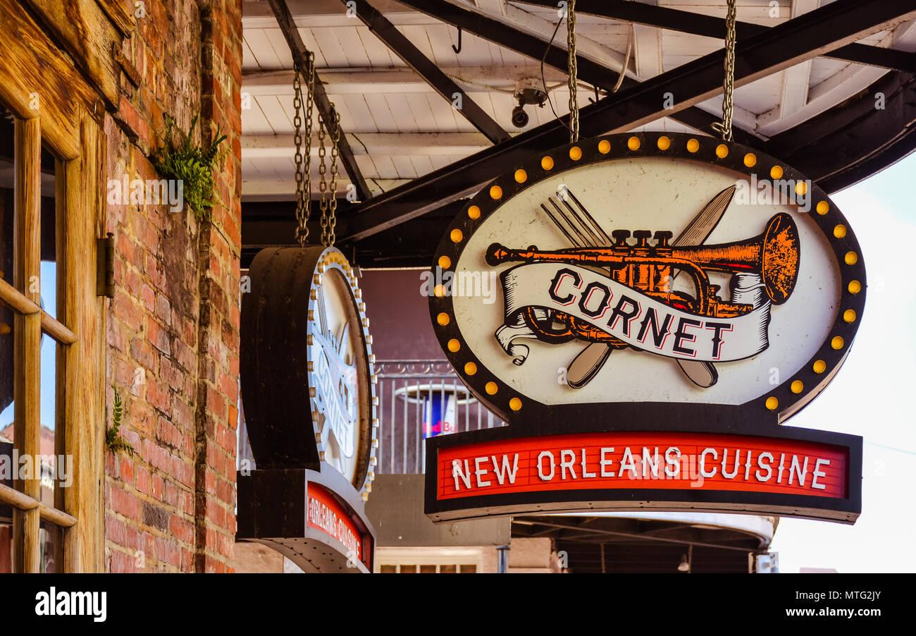 New Orleans La Sep 24 2017 Cornet Restaurant Cornet