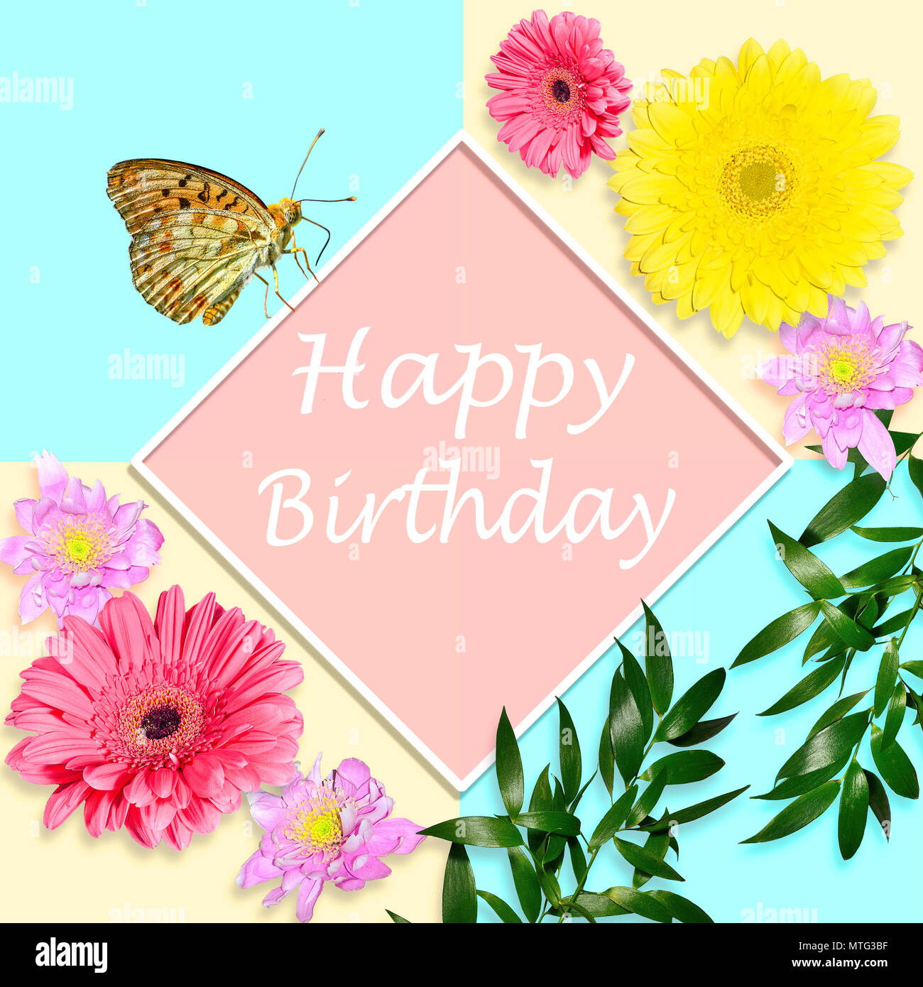 Birthday Card Bouquets Flowers BA