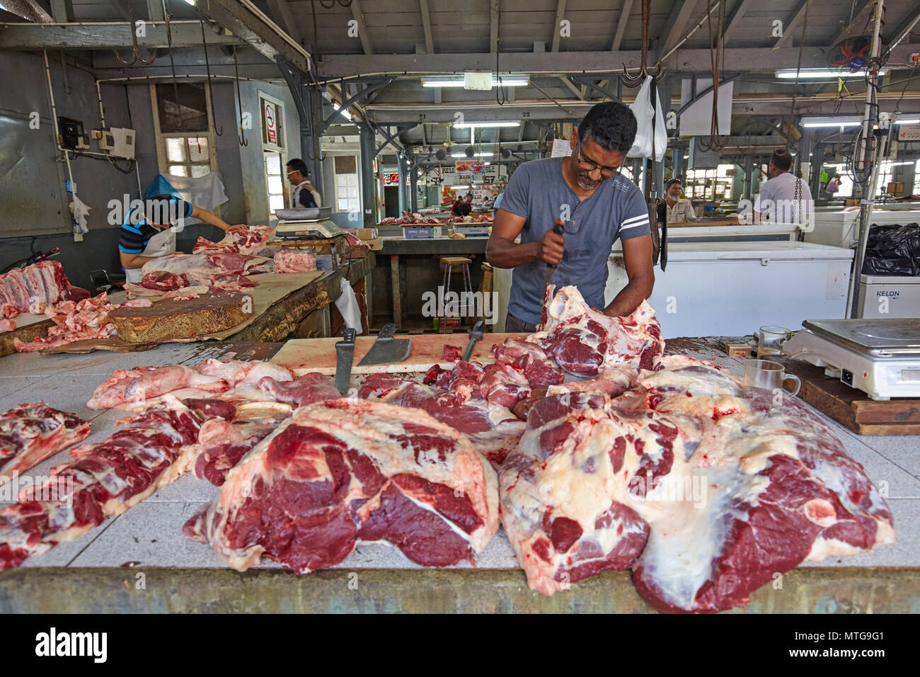 The Central Market (Bazaar) in Port Louis, Mauritius Stock Photo