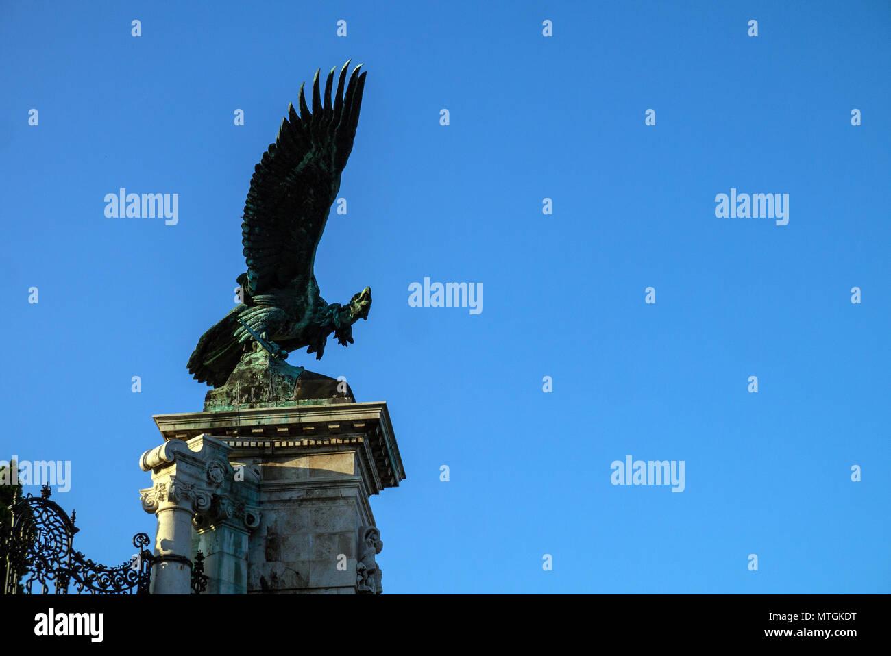 The Turul bird, a creature from Hungarian mythology Stock Photo