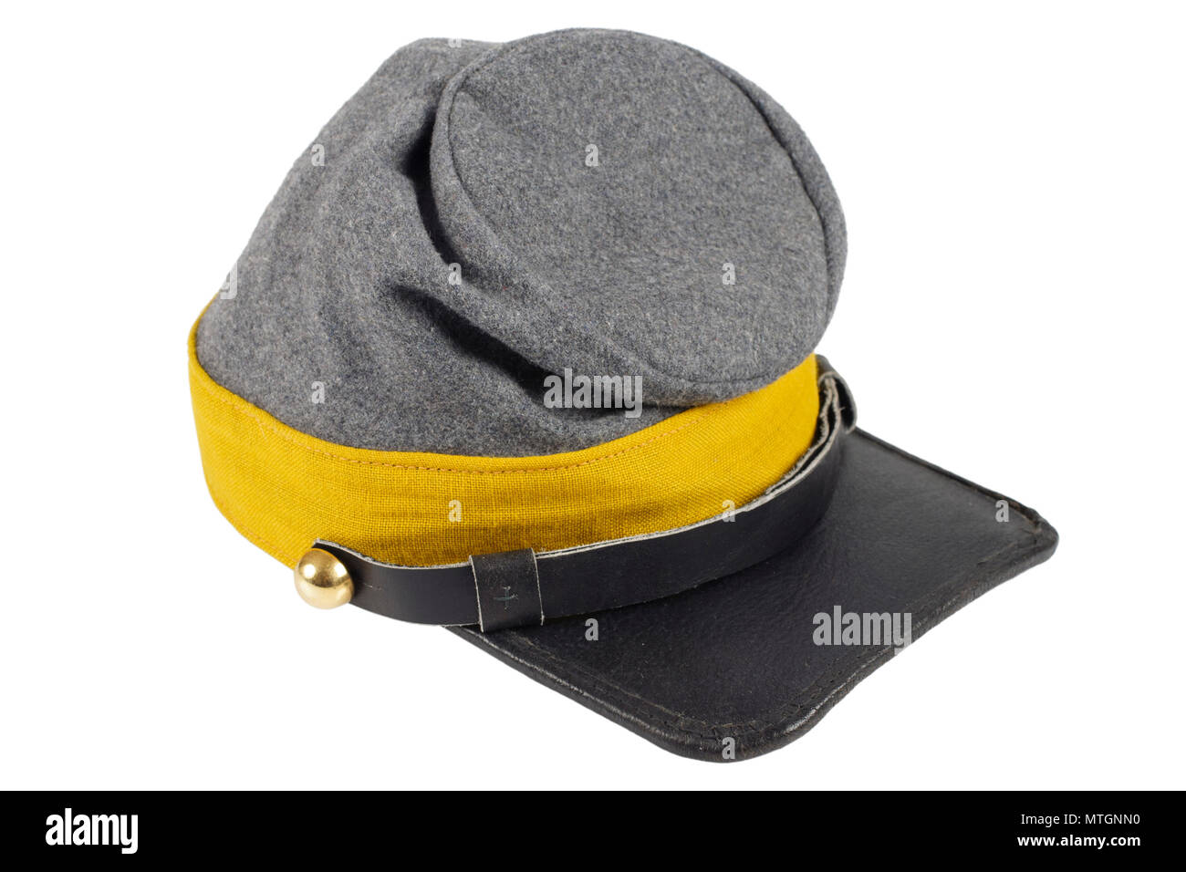 confederate cavalry kepi American Civil War period - Stock Image