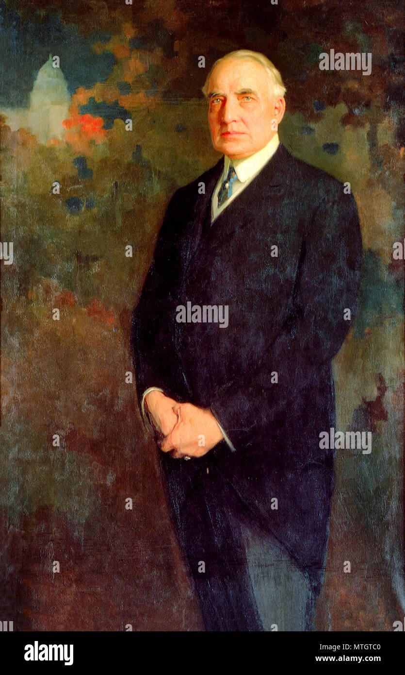 Official Presidential Portrait of Warren G. Harding, 1922 - Stock Image