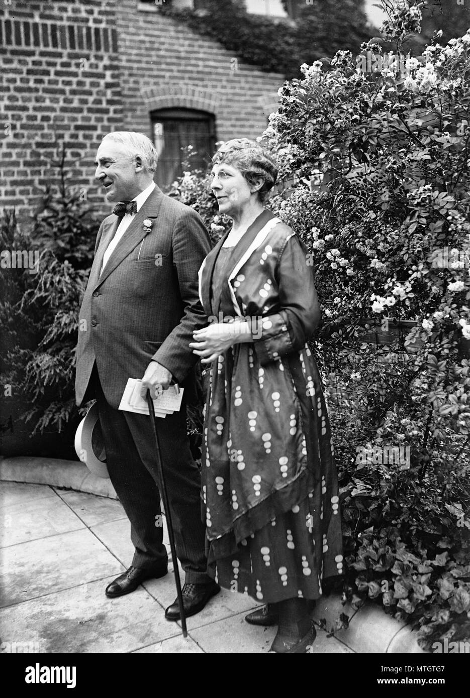 Warren and Florence Harding, circa 1920 - Stock Image