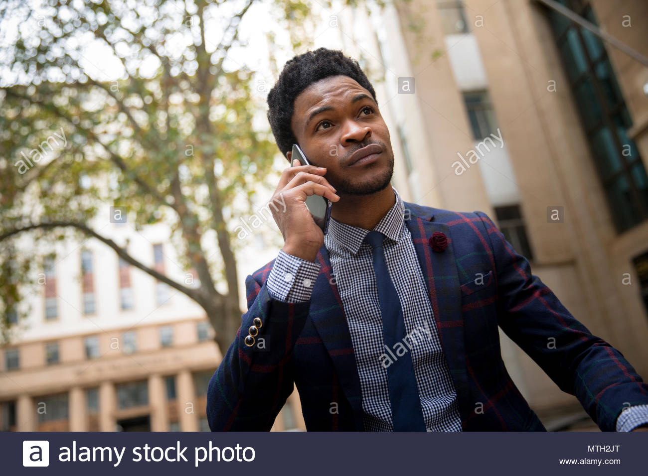 Business man on a phone call - Stock Image