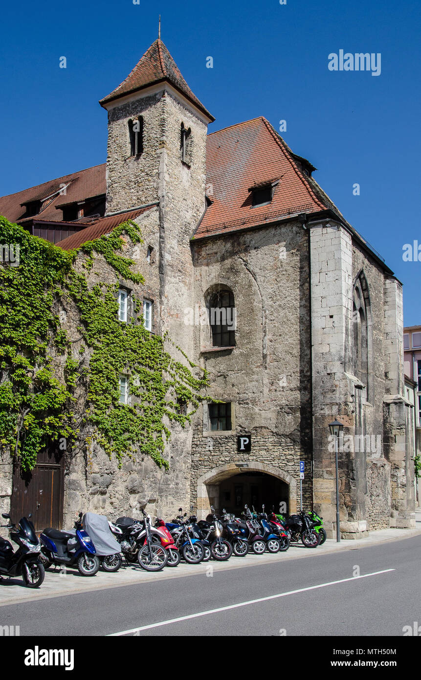 Regensburg is the best-preserved medieval town in Germany. Almost 1,000 monuments are located closely together in the city centre. - Stock Image