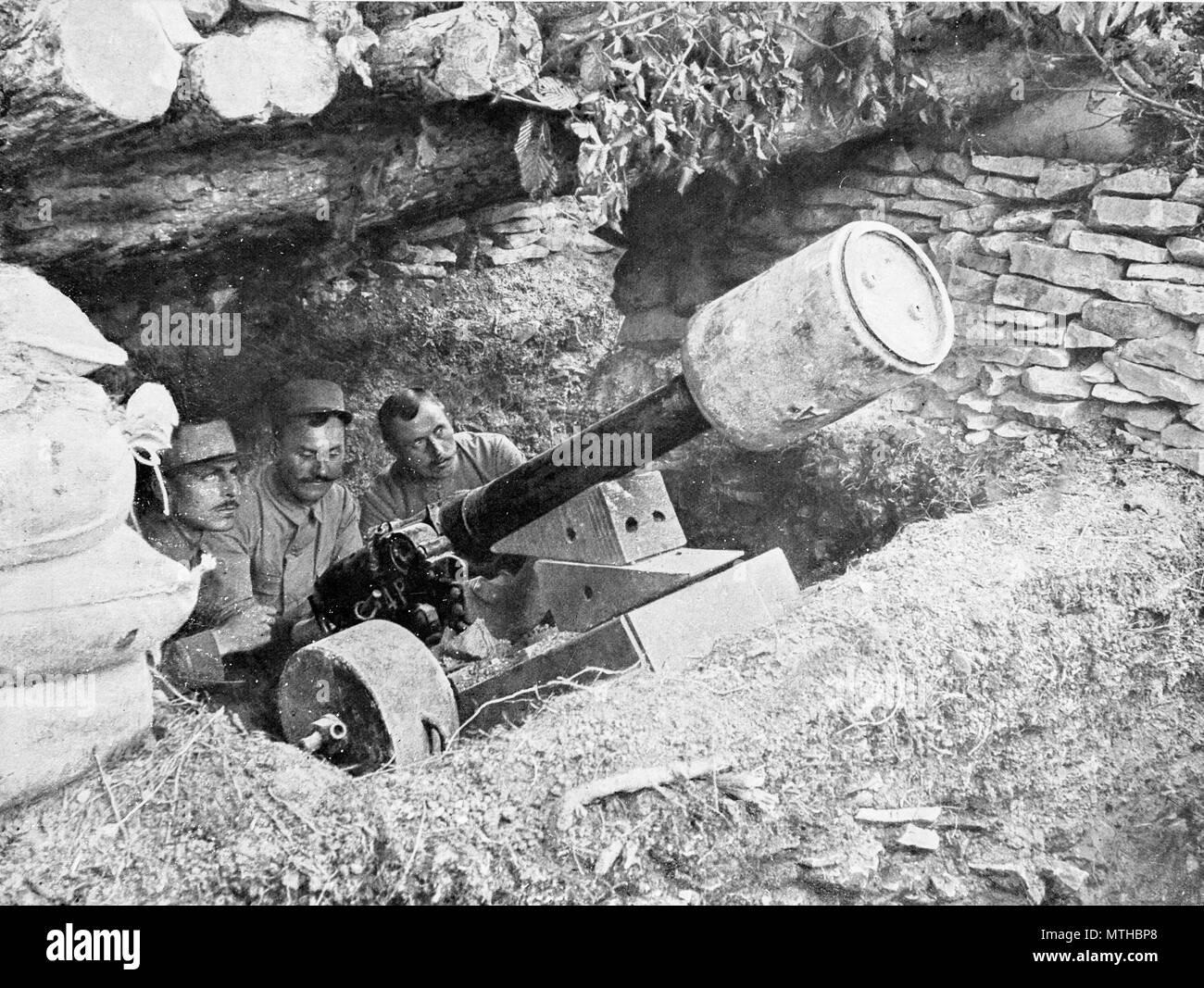 80 mm cannon, Belgium Stock Photo