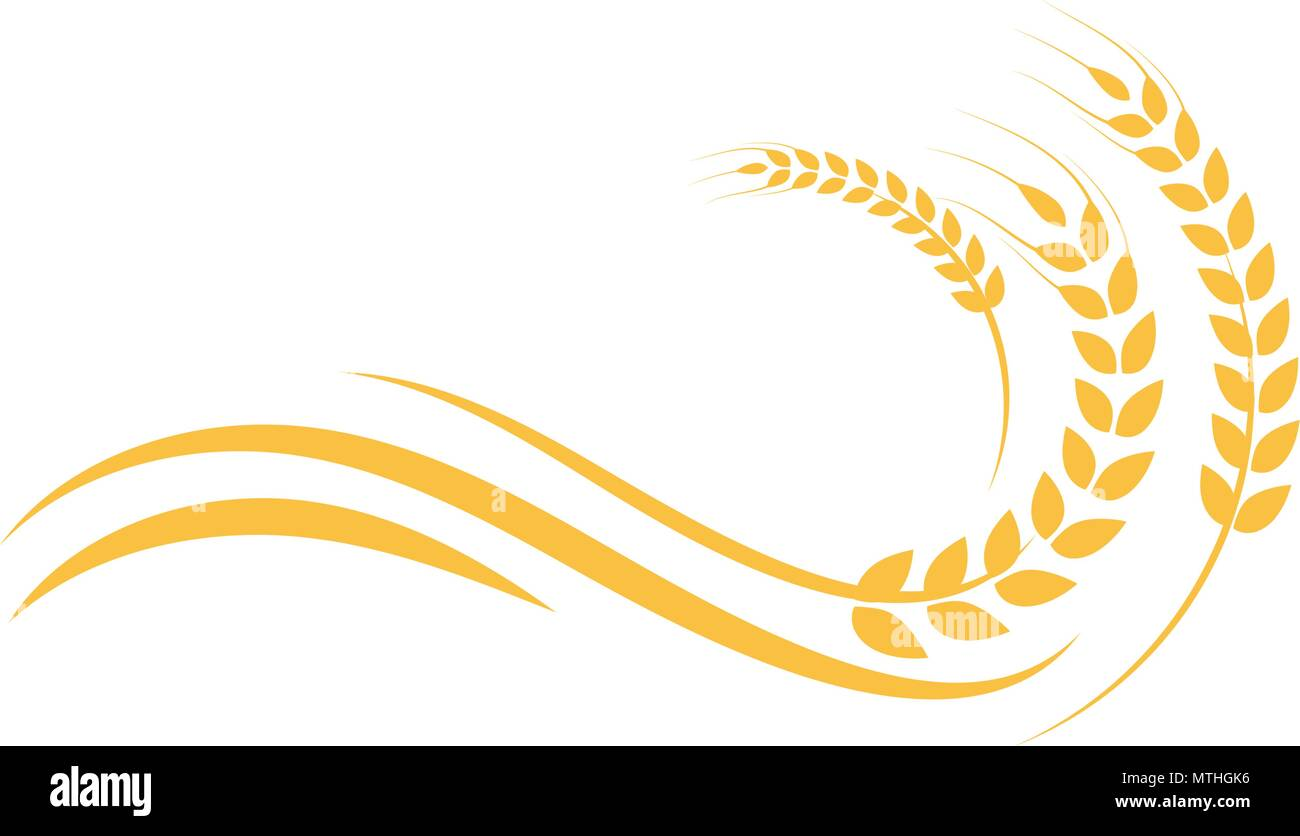 Agriculture Wheat Logo Template Vector Icon Design Stock Vector Art