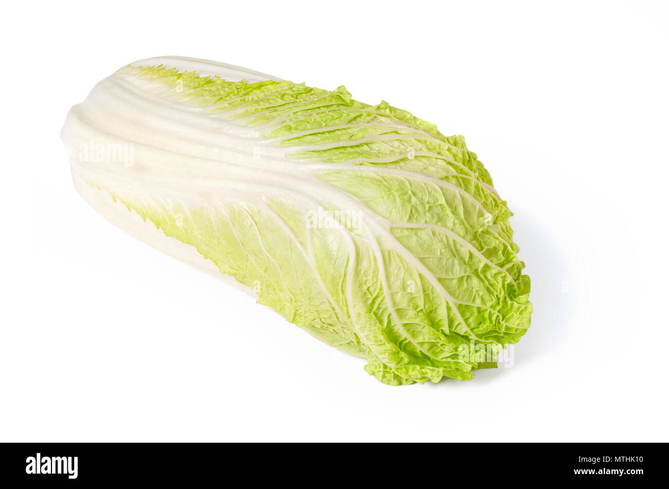 Napa Cabbage Front View On White Background Chinese Cabbage Also Called Nappa And Wombok Raw Fresh Uncooked And Green Vegetable Brassica Rapa Stock Photo Alamy