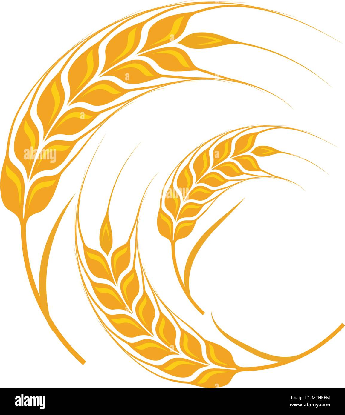 Agriculture wheat Template vector icon design illustration - Stock Vector