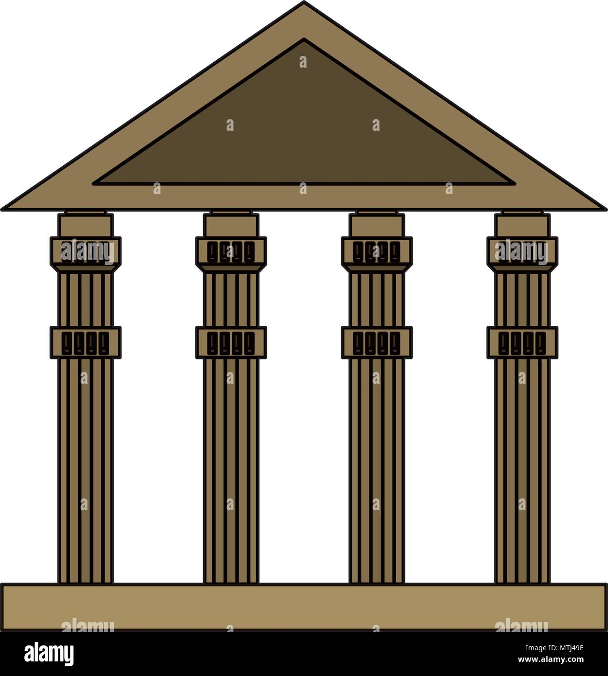 ancient greek building over white background, vector illustration - Stock Vector