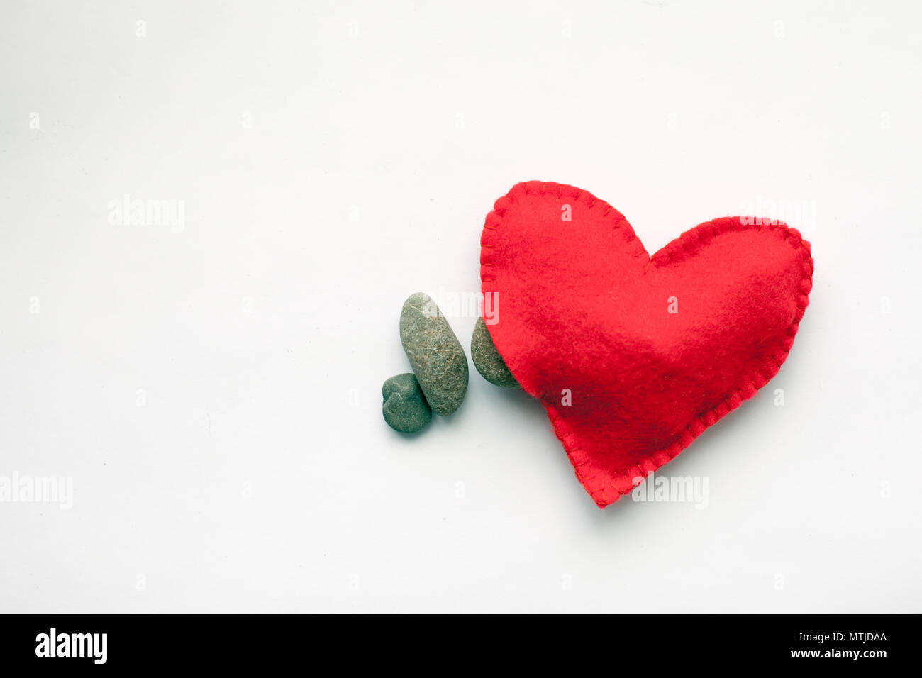 Unhappy love divorce concept, minimal style - Stock Image