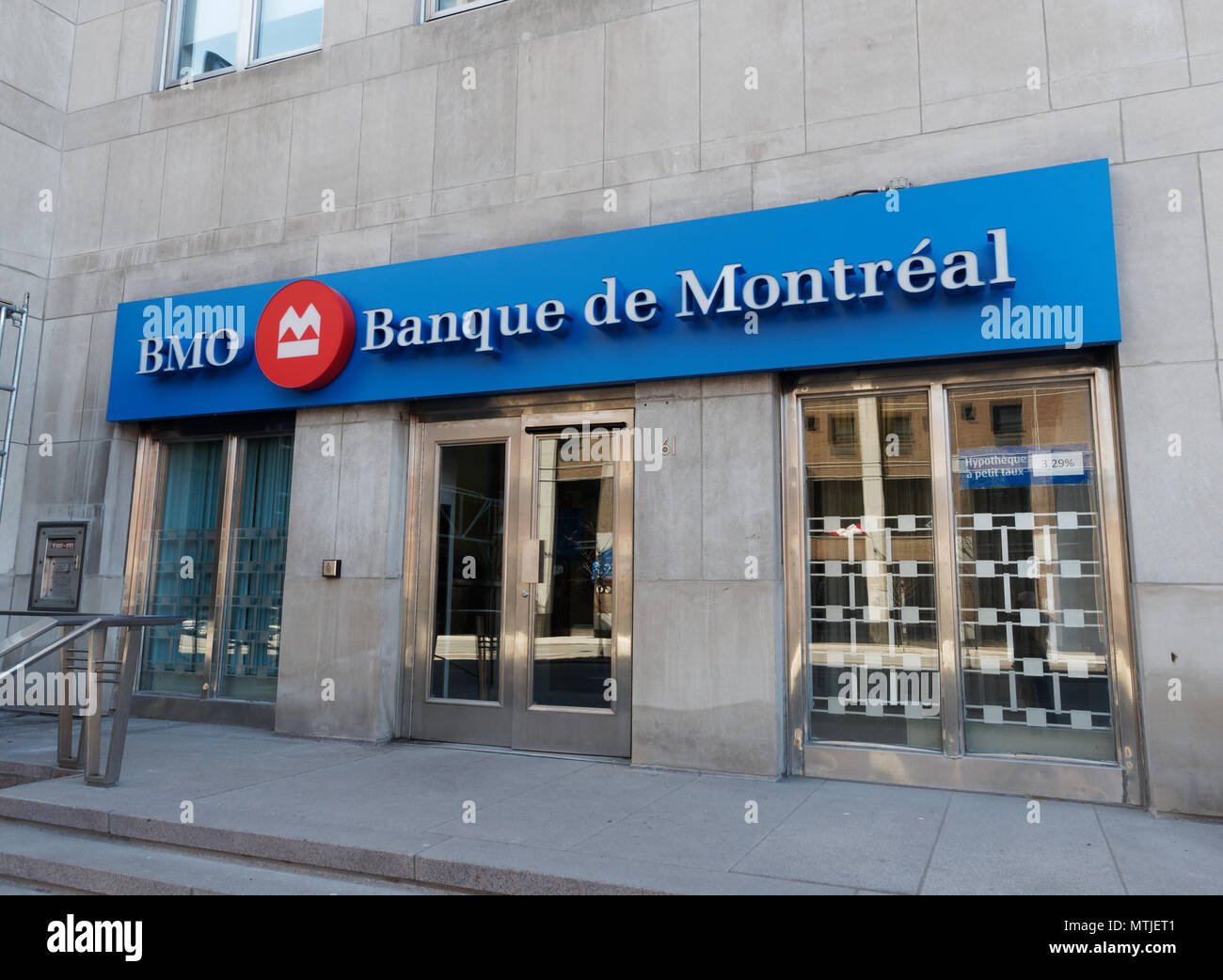 Quebec,Canada.Bank of Montreal in downtown Montreal. - Stock Image