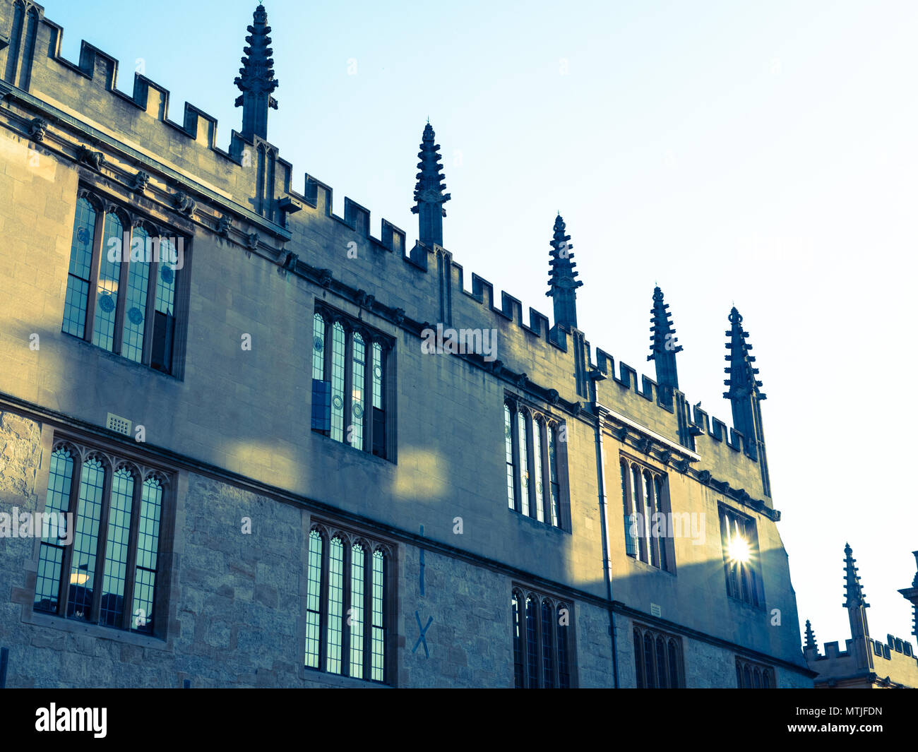 Bodleian Library, B&W, Oxford, Oxfordshire, England, UK, GB. - Stock Image