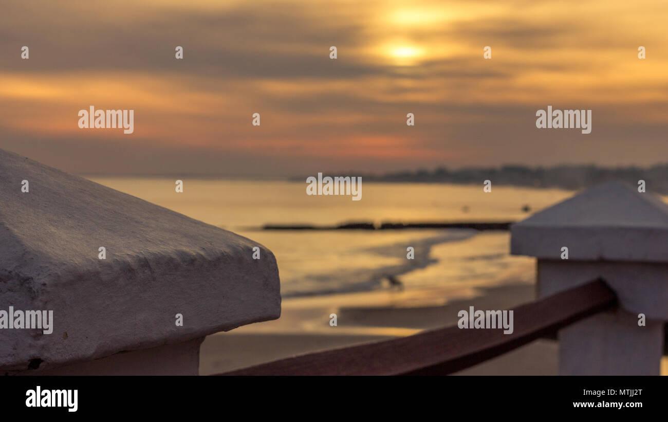 sunset at piriapolis beach,Uruguay - Stock Image