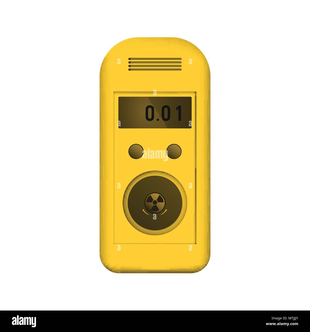 Radiation dosimeter - Stock Vector