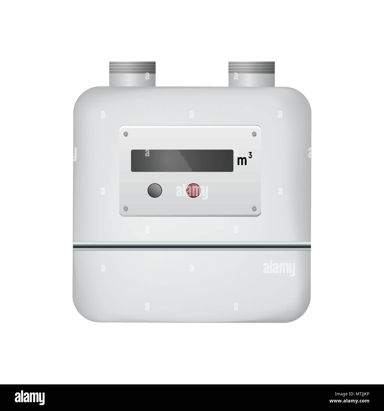 Gas meter - Stock Image