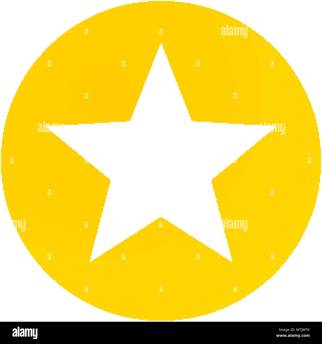 Isolated Star Inside Circle Design Stock Vector Images Alamy