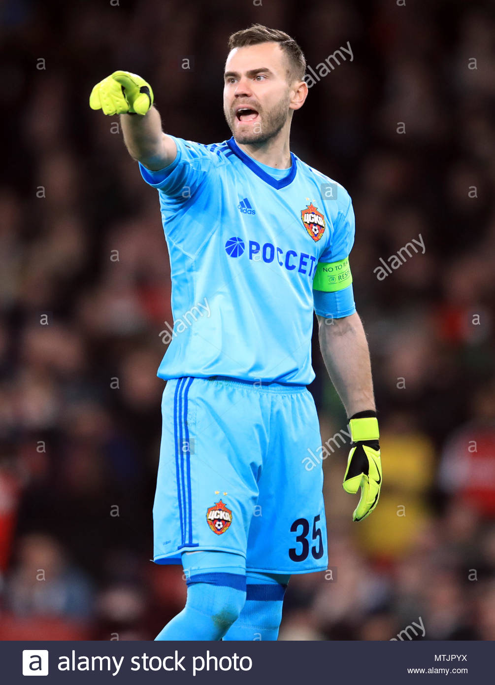 bc1abb849 File photo dated 05-04-2018 of CSKA Moscow goalkeeper Igor Akinfeev ...