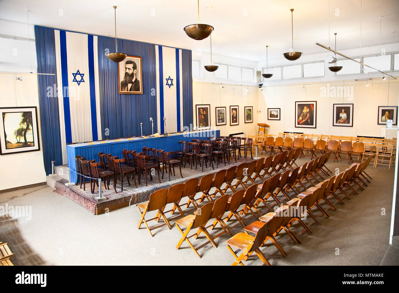 Independence Hall where is The Israeli Declaration of Independence was made on 14 May 1948, was the Tel Aviv Museum. - Stock Image