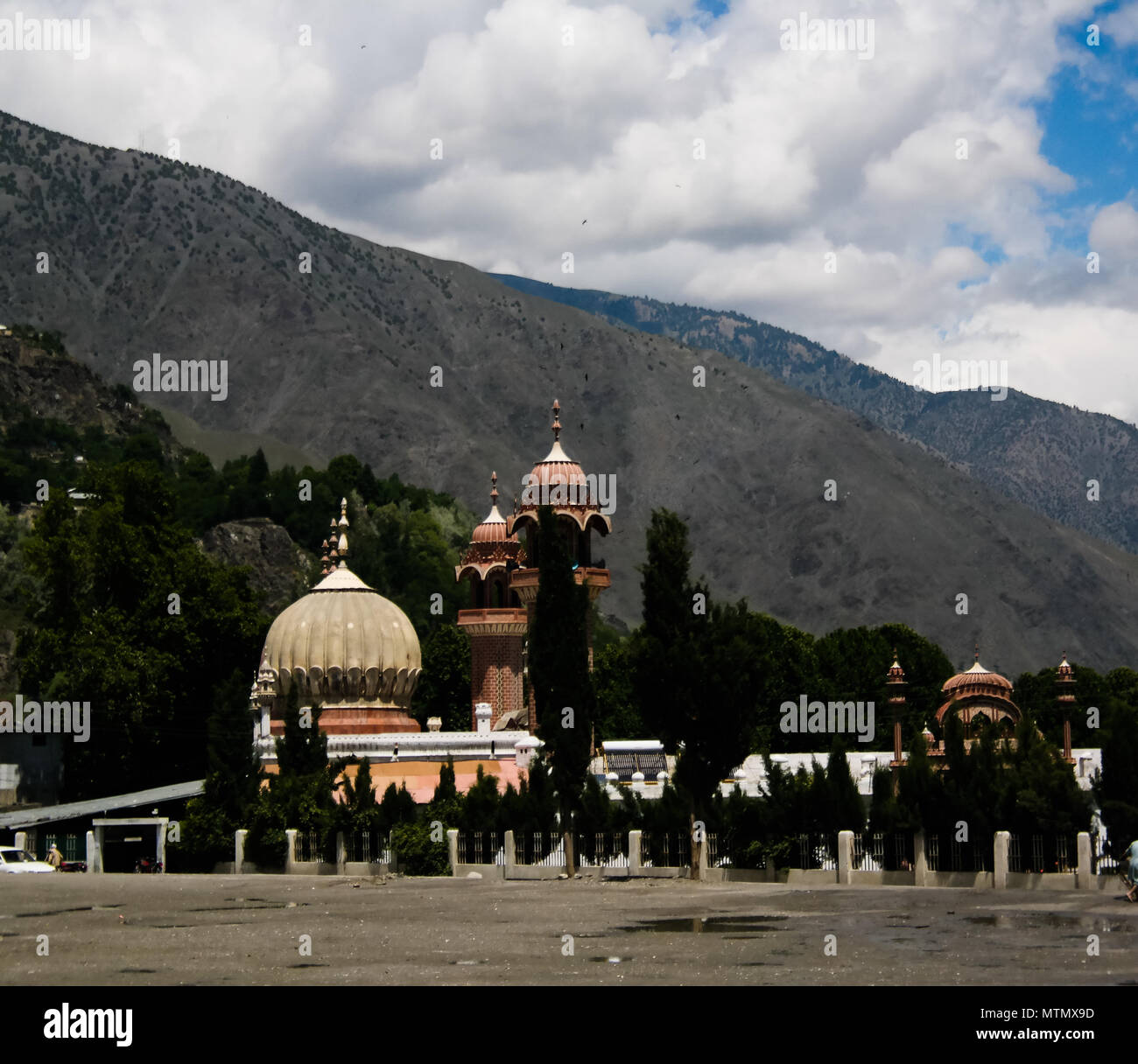 View to Chitral Mosque, Khyber Pakhtunkhwa province, Pakistan - Stock Image