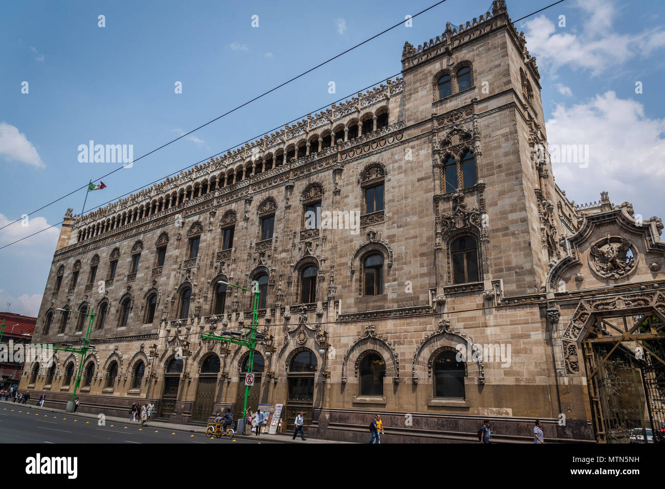 Postal Palace of Mexico City, also known as the 'Correo Mayor' or Main Post Office, Mexico City, Mexico - Stock Image