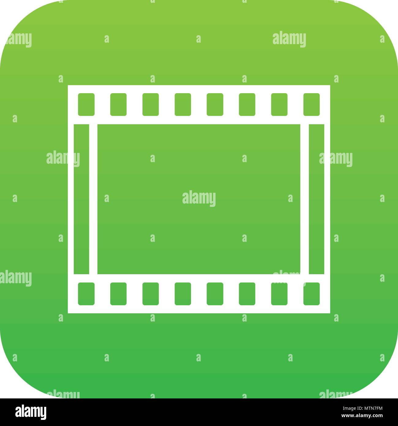 Film with frames movie icon digital green Stock Vector Art ...