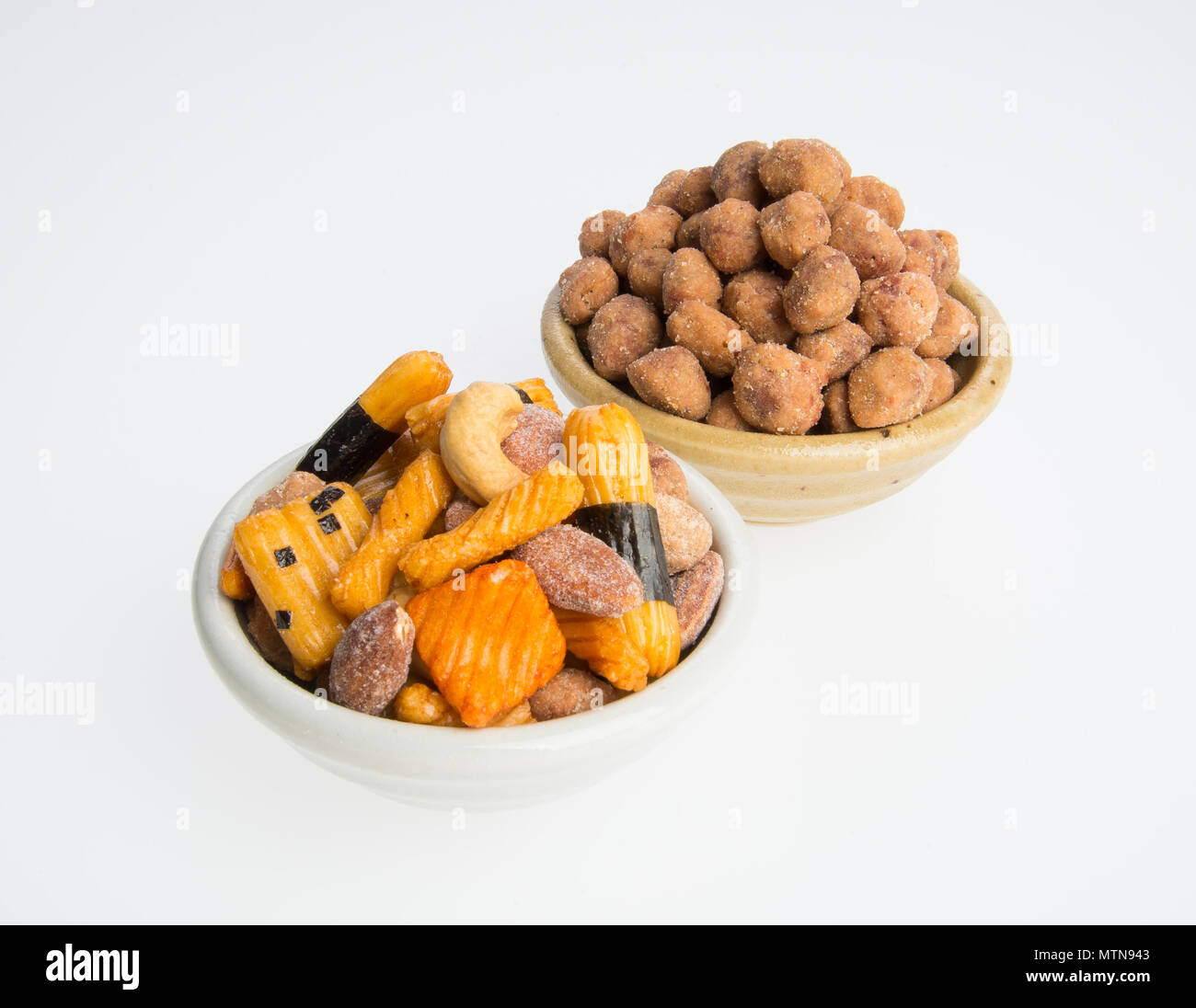 nuts or mix peanuts on a background - Stock Image
