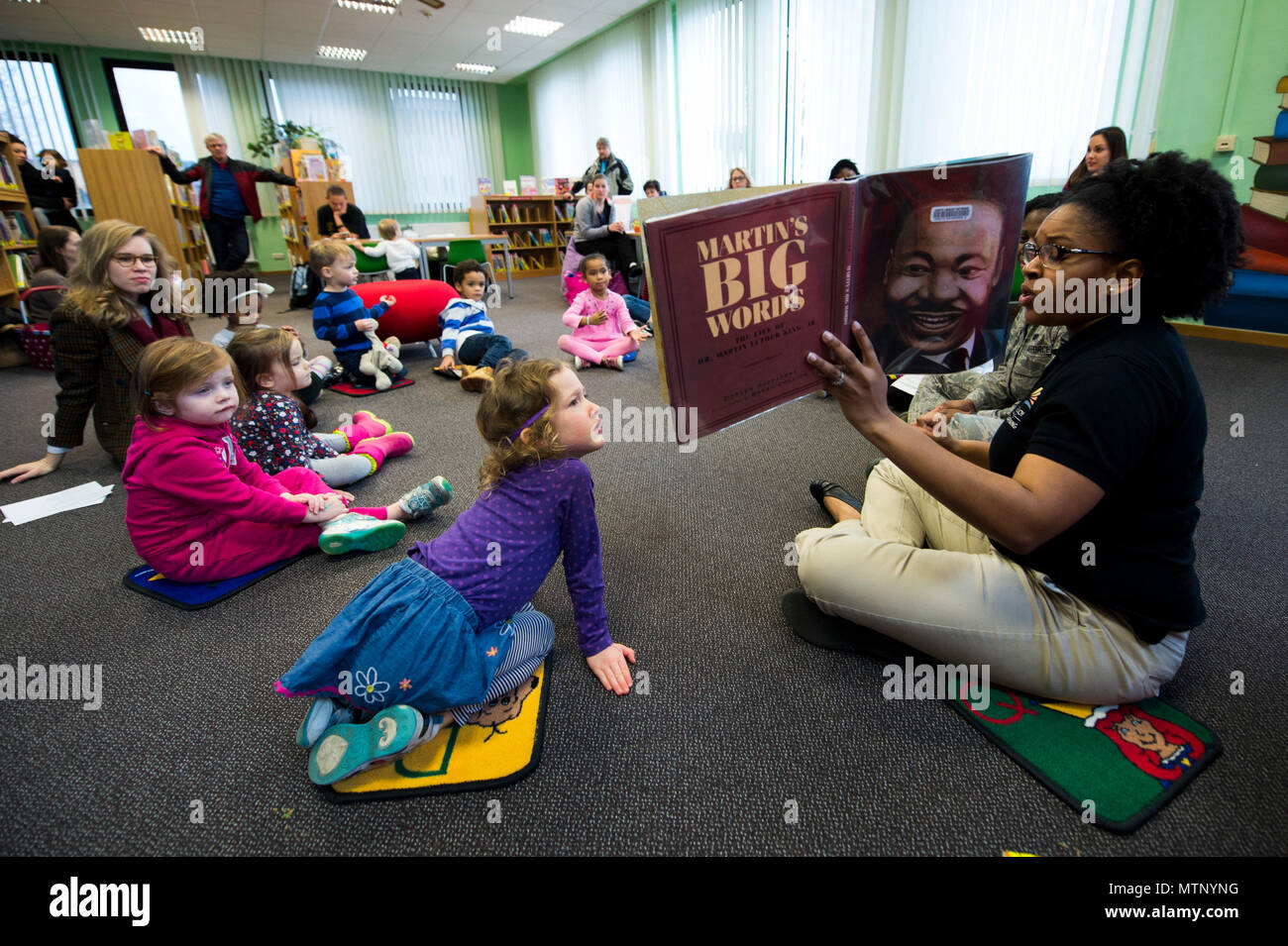 Spangdahlem Children Listen To A Book About Dr Martin Luther King