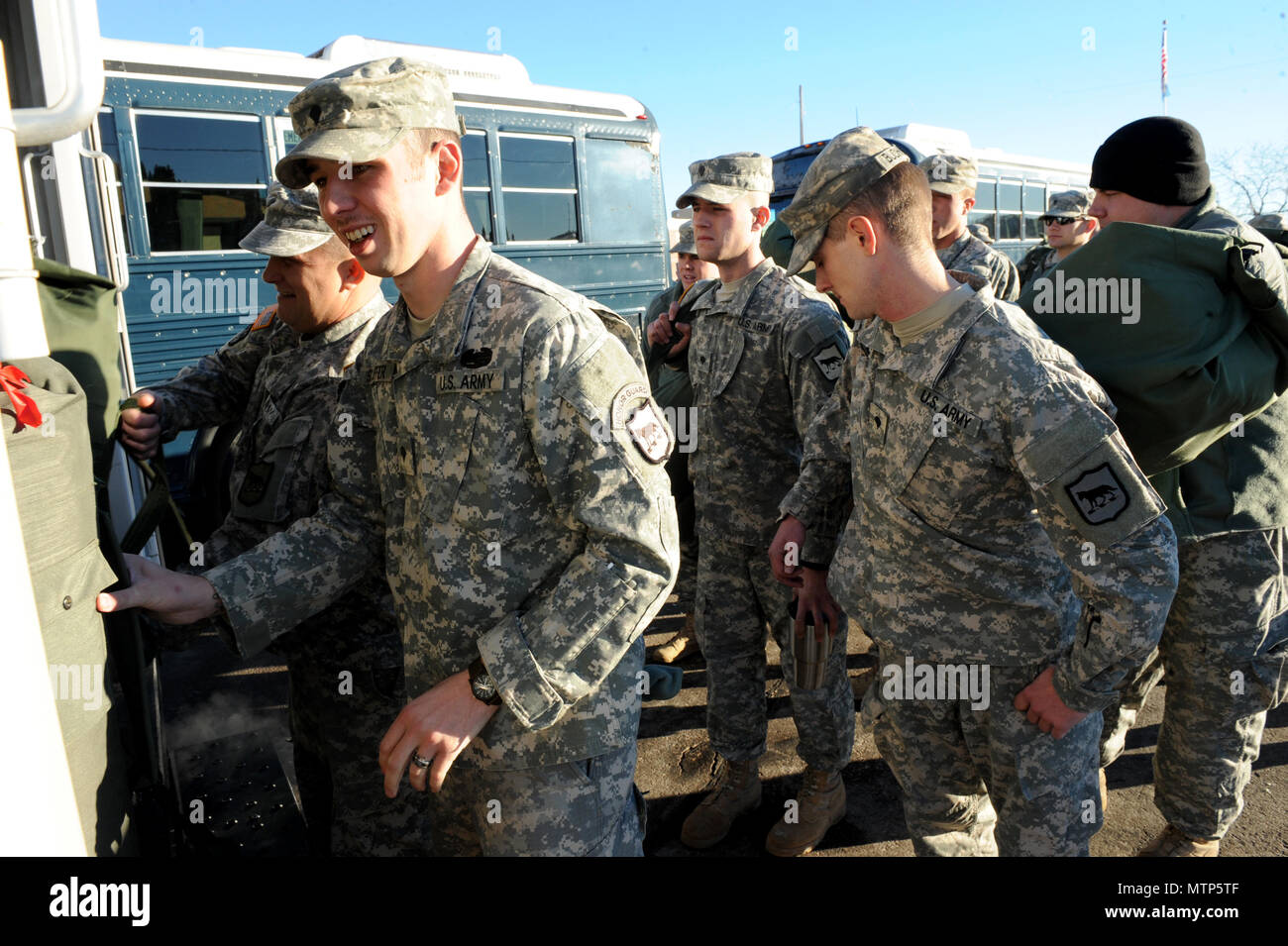 Soldiers With The South Dakota Army National Guard S 235th Military Police Company Depart Rapid City S D