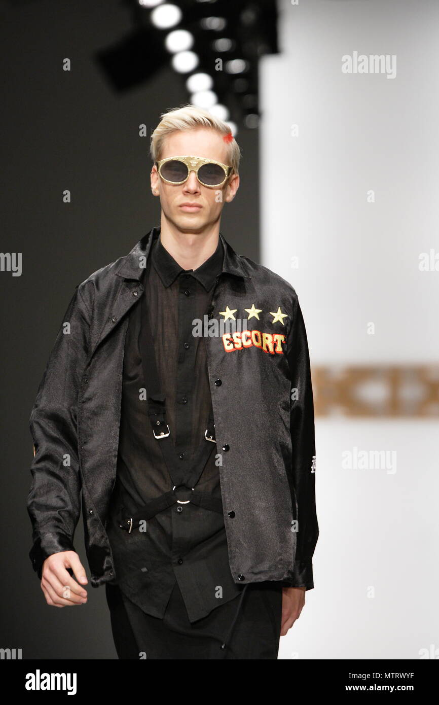UK Fashion - Model on the runway during the KTZ Spring Summer collection -  London Fashion Week 2011