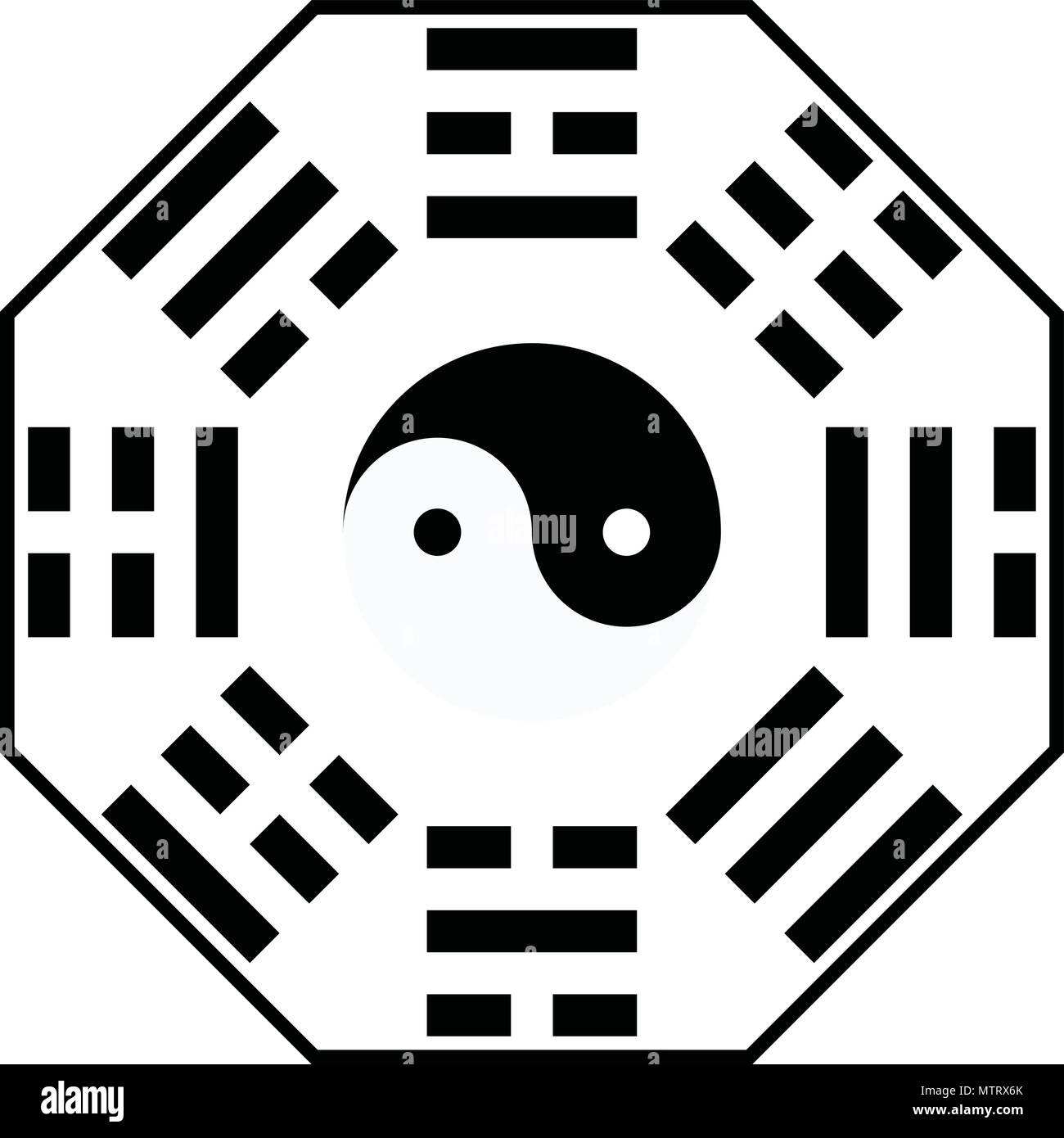 yin yang, book of changes - Stock Vector