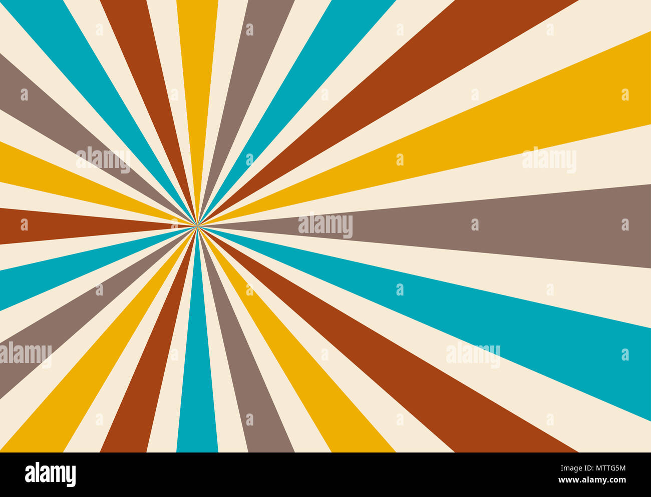 82fbd0dfcfcb starburst or sunburst background pattern with a vintage color palette of  blue yellow light gray beige and red in a radial striped design