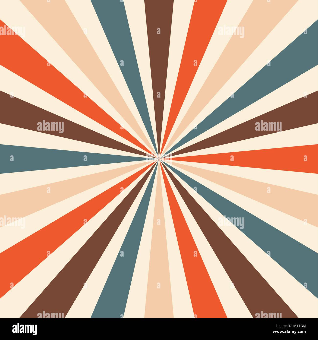 Starburst Or Sunburst Background Pattern With A Vintage Color