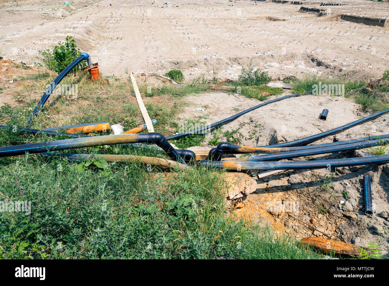 Pipe for groundwater drainage (photo)