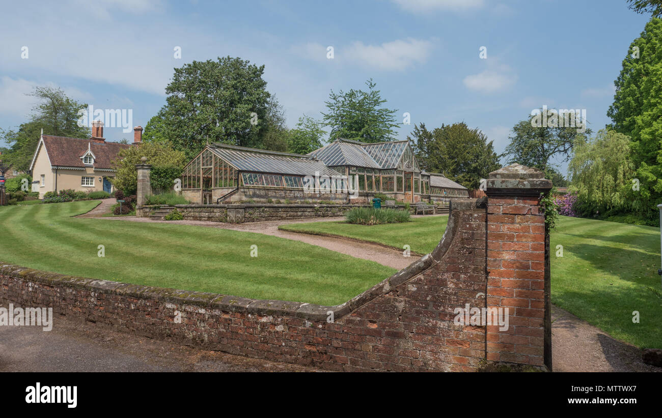 Weston-under-Lizard, England, 29th, May, 2018.  Weston Park Stately House.  The Conservatory greenhouse at Weston Park - Stock Image