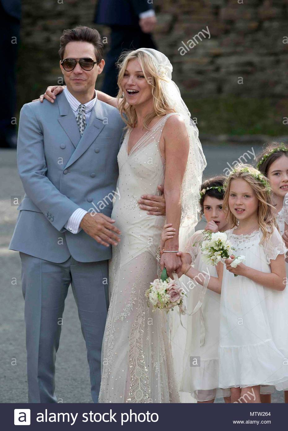 The marriage ceremony of Kate Moss was held in the small old church of St. Margaret 07/02/2011 66